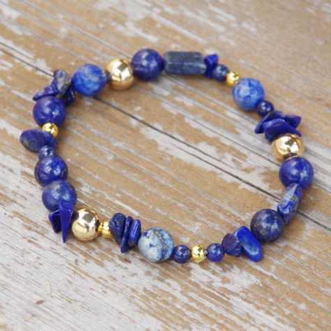 lapis stretch bracelet 3